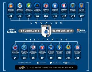 Calendario Gallos Querétaro